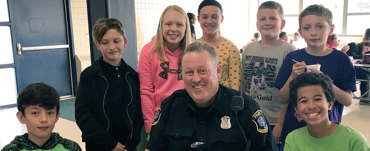Lunch with Clawson Police Officer