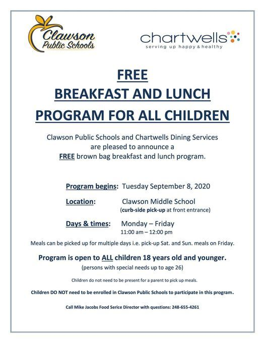 Free Breakfast and Lunch Program for All Children