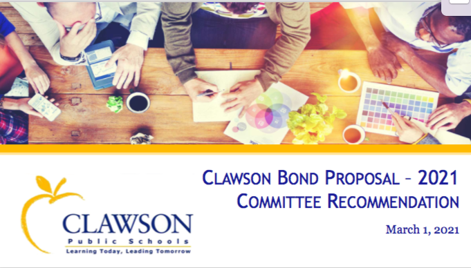 Clawson Bond Proposal Committee Recommendation March 1, 2021